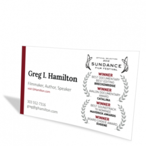 Greg I Hamilton business card