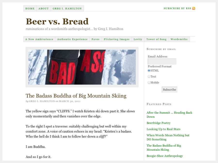 Beer vs. Bread