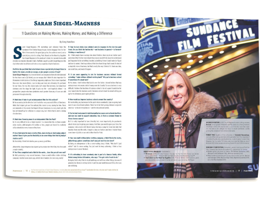 Feature article for the magazine of the Leeds School of Business at the University of Colorado